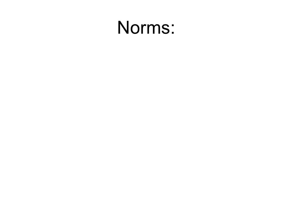 Norms: