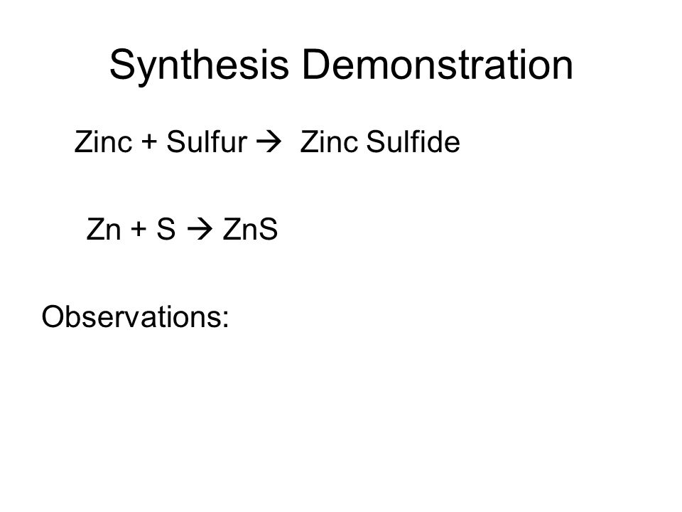 Synthesis Demonstration