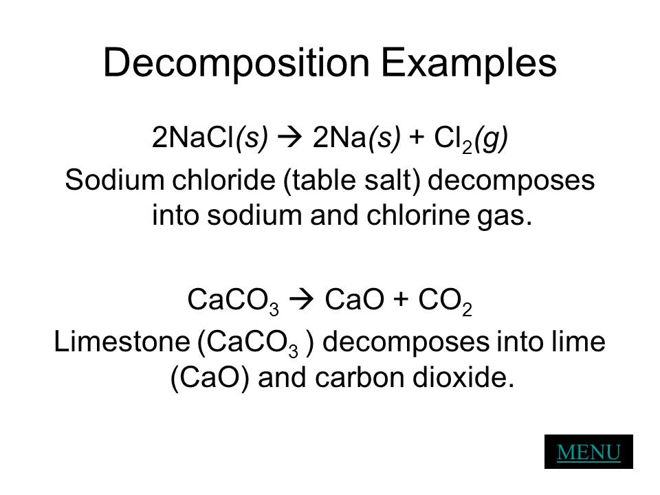 Decomposition Examples