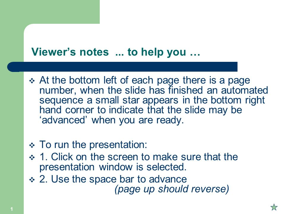 Viewer's notes ... to help you …