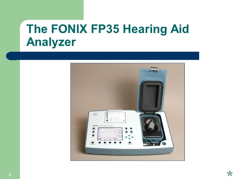 The FONIX FP35 Hearing Aid Analyzer