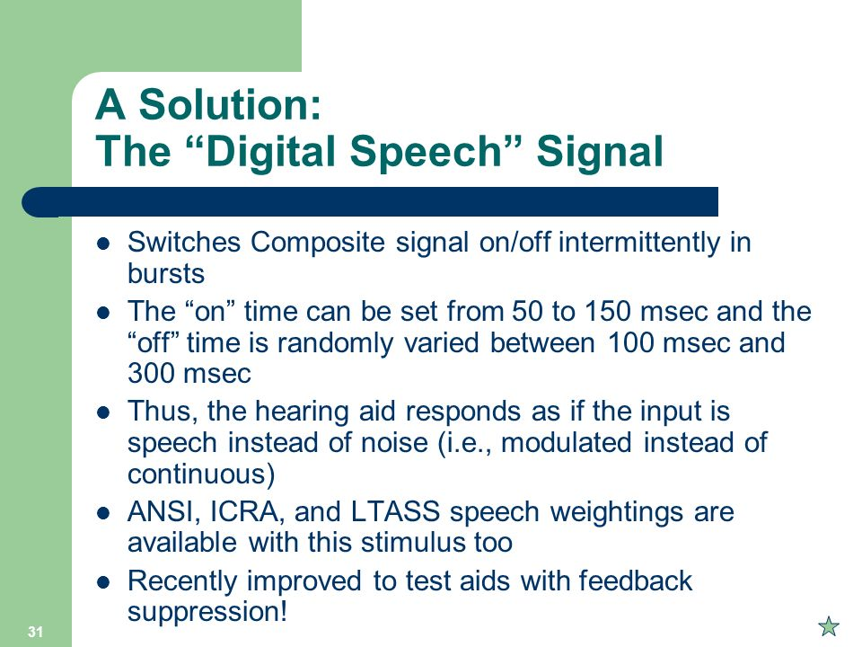 A Solution: The Digital Speech Signal