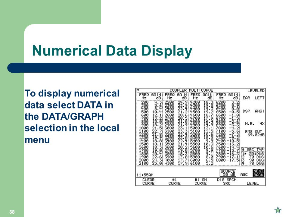 Numerical Data Display