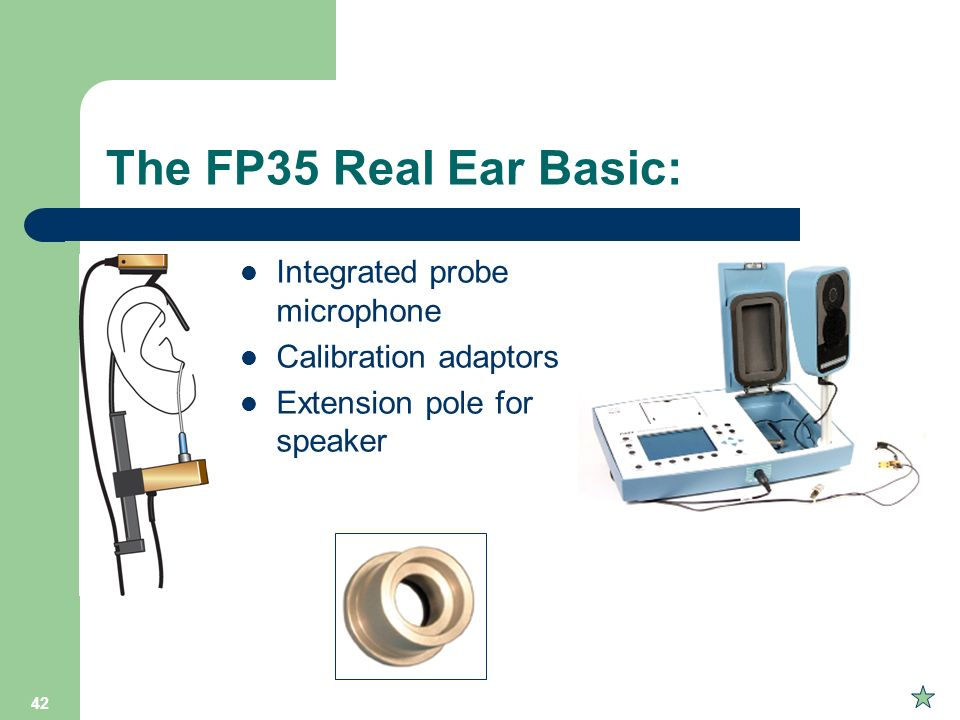 The FP35 Real Ear Basic: Integrated probe microphone