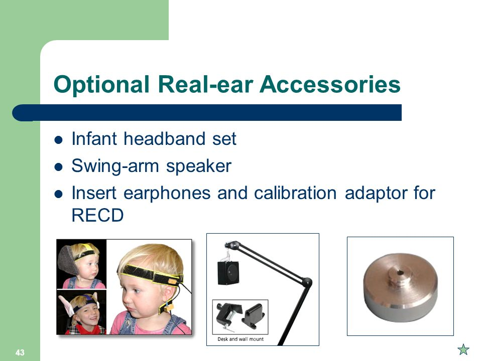 Optional Real-ear Accessories