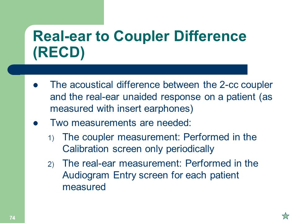 Real-ear to Coupler Difference (RECD)