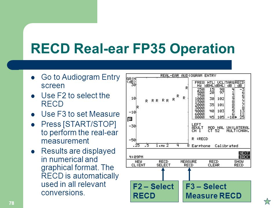RECD Real-ear FP35 Operation