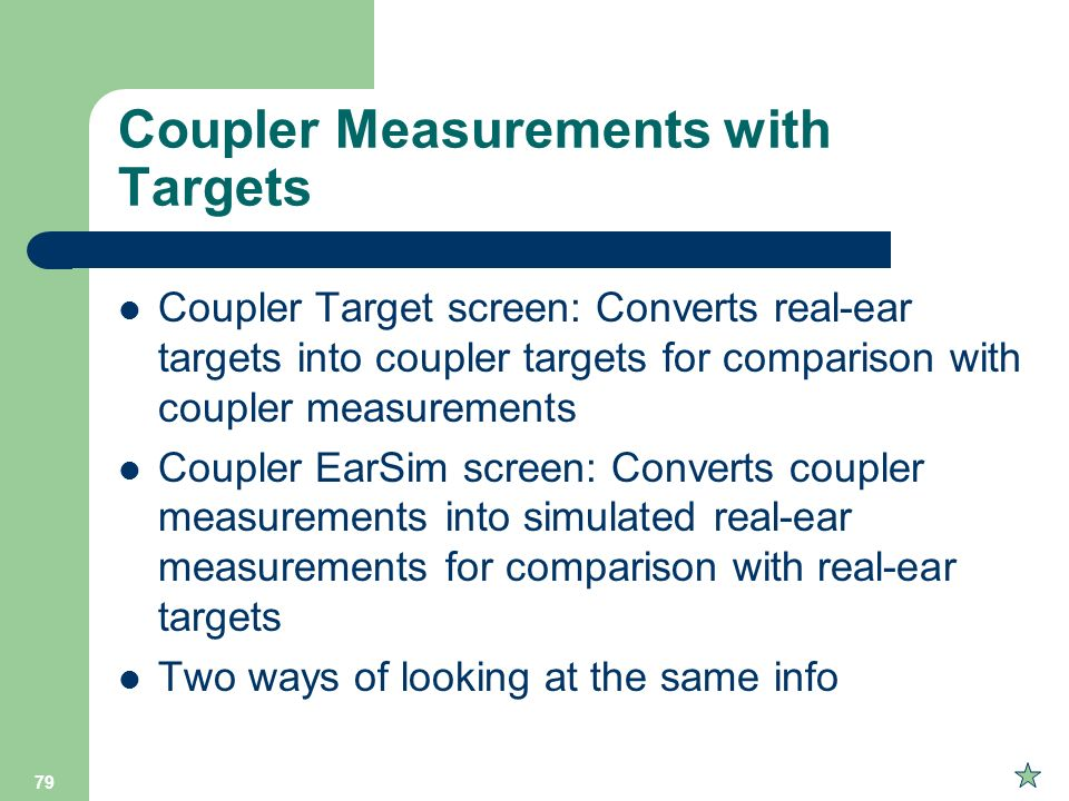 Coupler Measurements with Targets