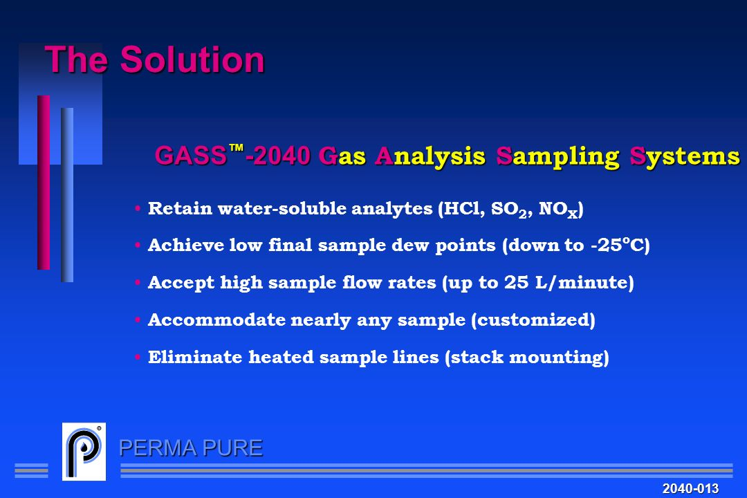 The Solution GASS™-2040 Gas Analysis Sampling Systems
