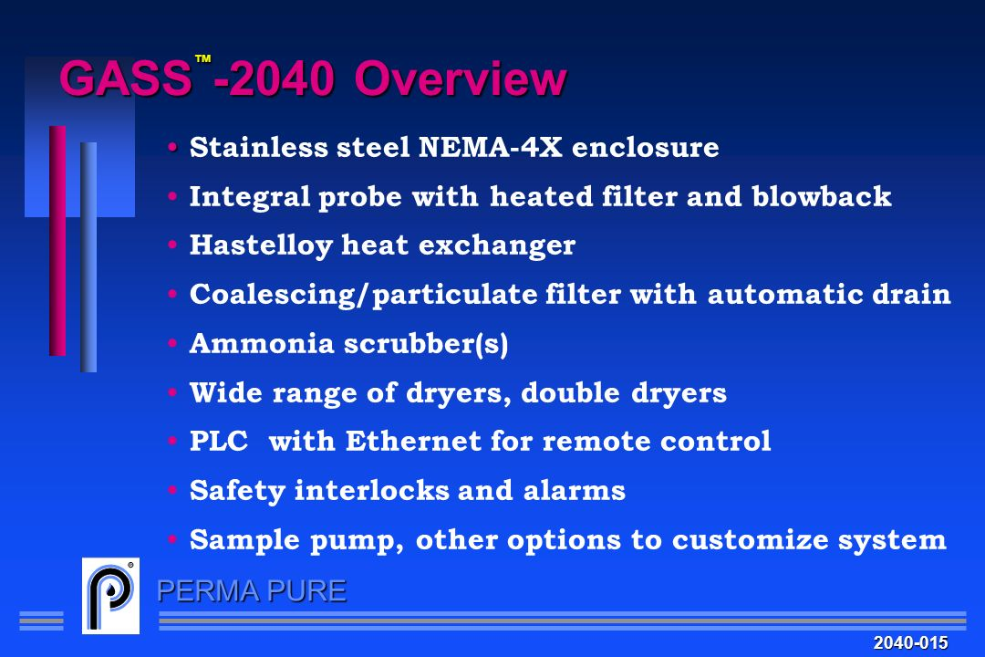 GASS™-2040 Overview Stainless steel NEMA-4X enclosure