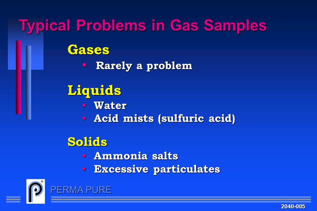 Typical Problems in Gas Samples
