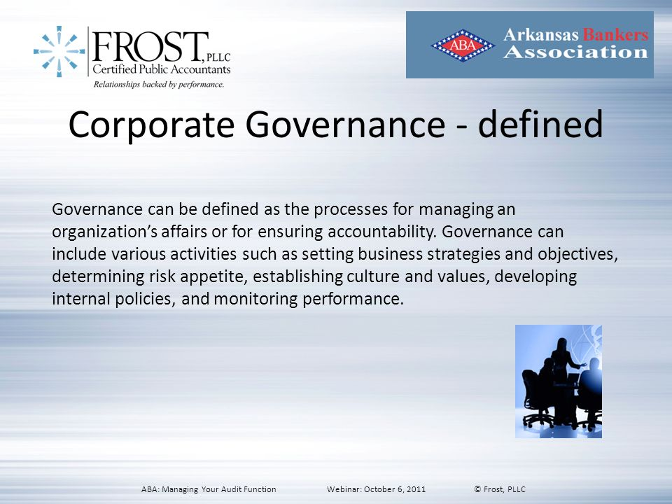 Corporate Governance - defined