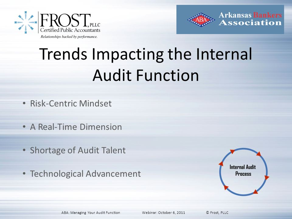 Trends Impacting the Internal Audit Function
