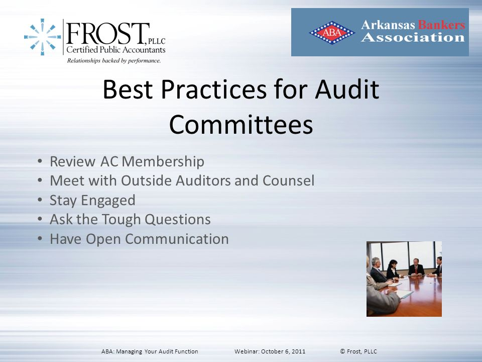Best Practices for Audit Committees
