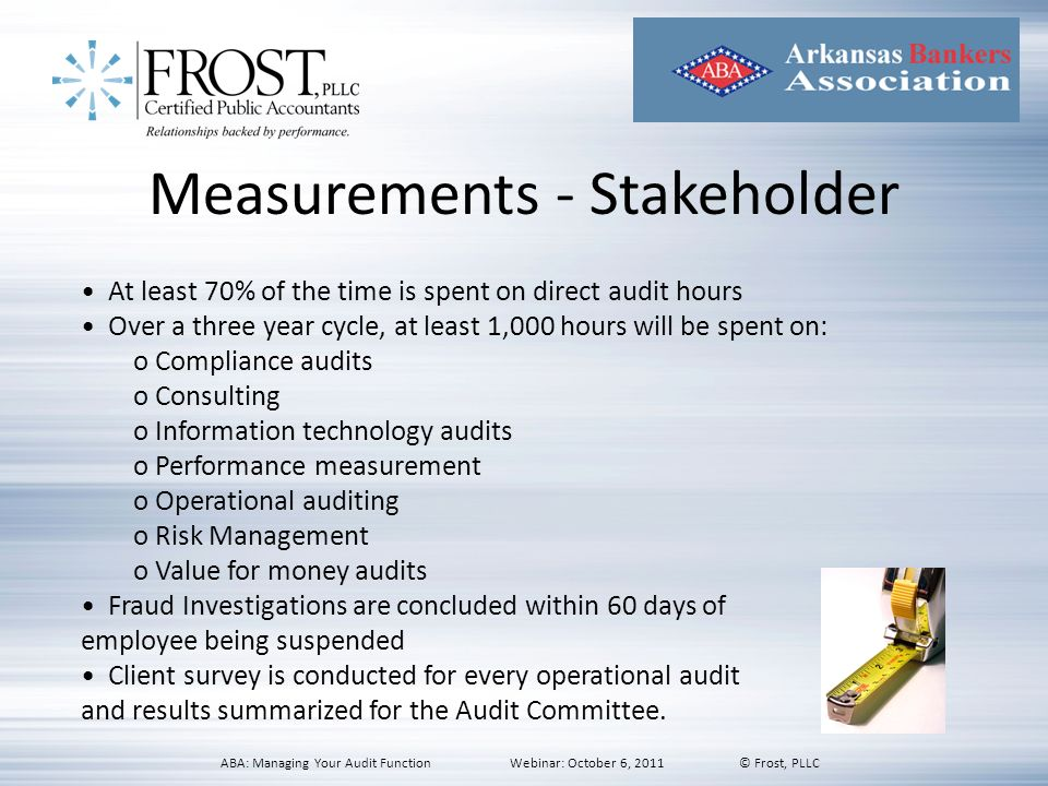 Measurements - Stakeholder