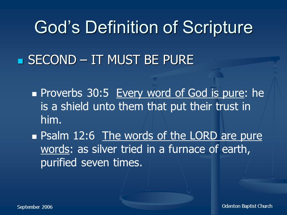 God's Definition of Scripture