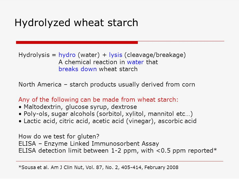 Hydrolyzed wheat starch