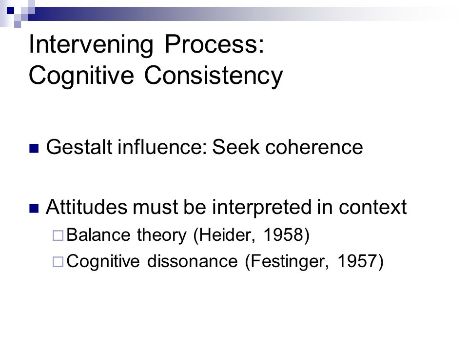 Intervening Process: Cognitive Consistency