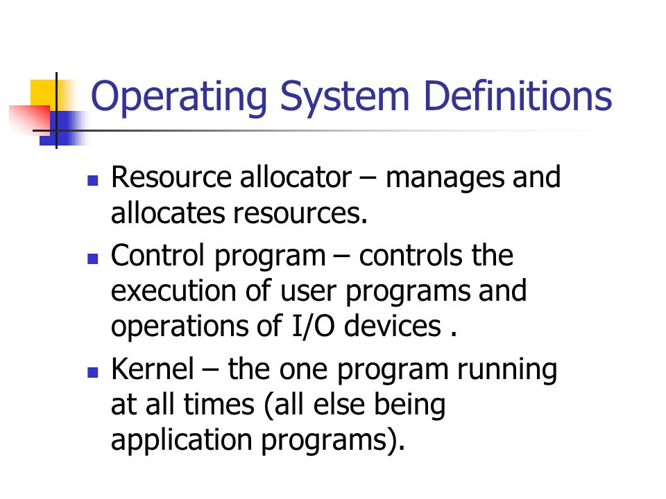Operating System Definitions
