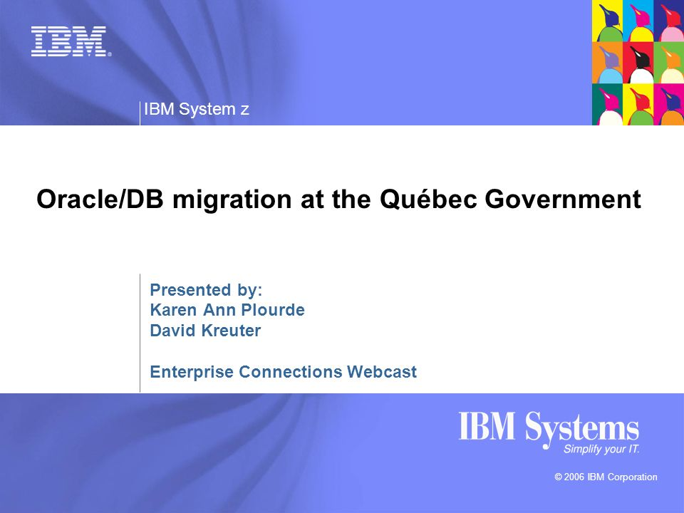 Oracle/DB migration at the Québec Government