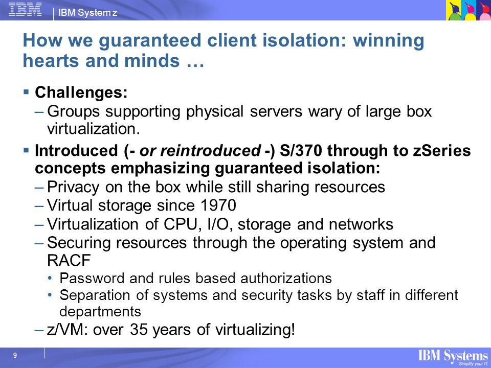 How we guaranteed client isolation: winning hearts and minds …