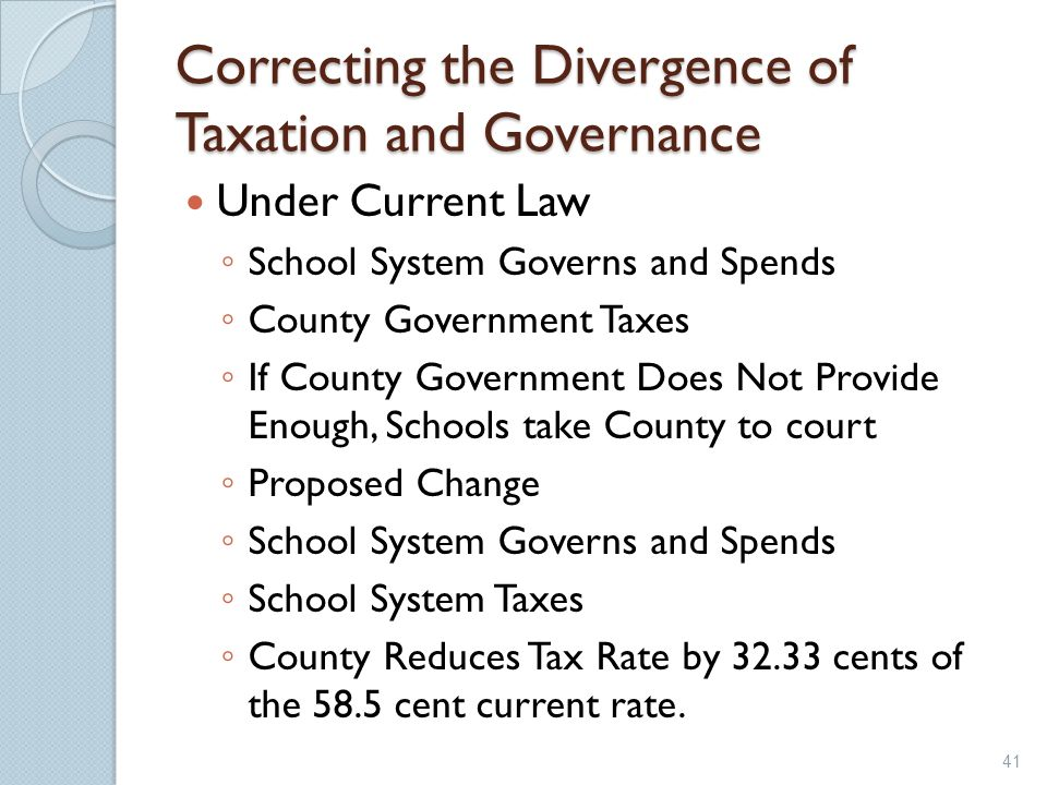 Correcting the Divergence of Taxation and Governance