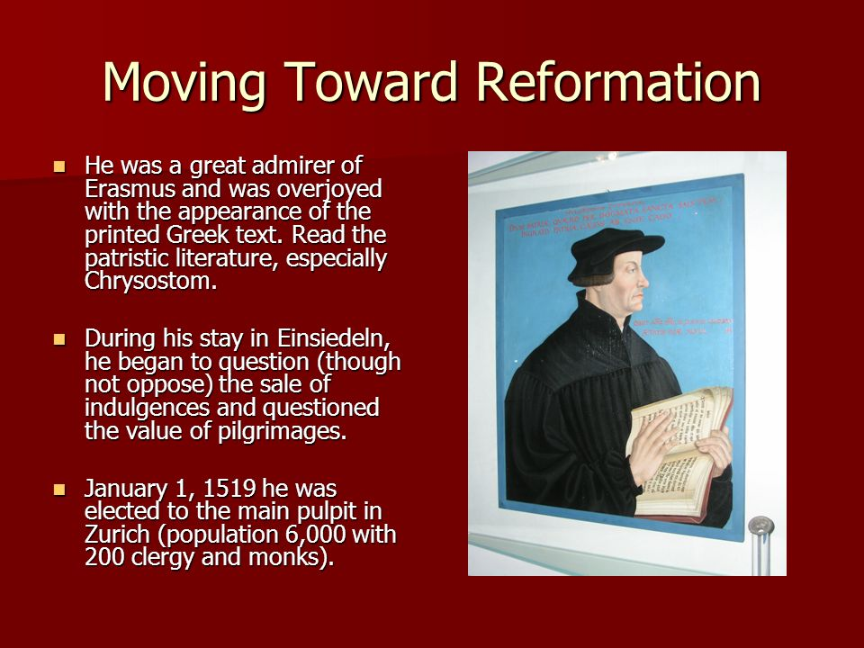 Moving Toward Reformation