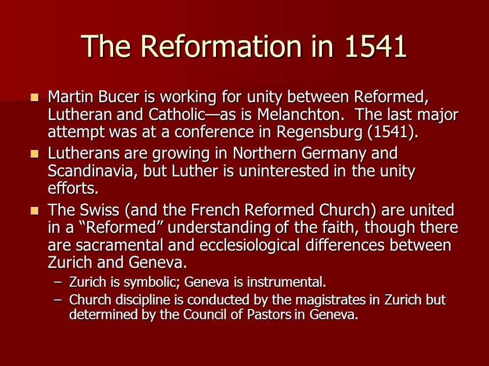 The Reformation in 1541