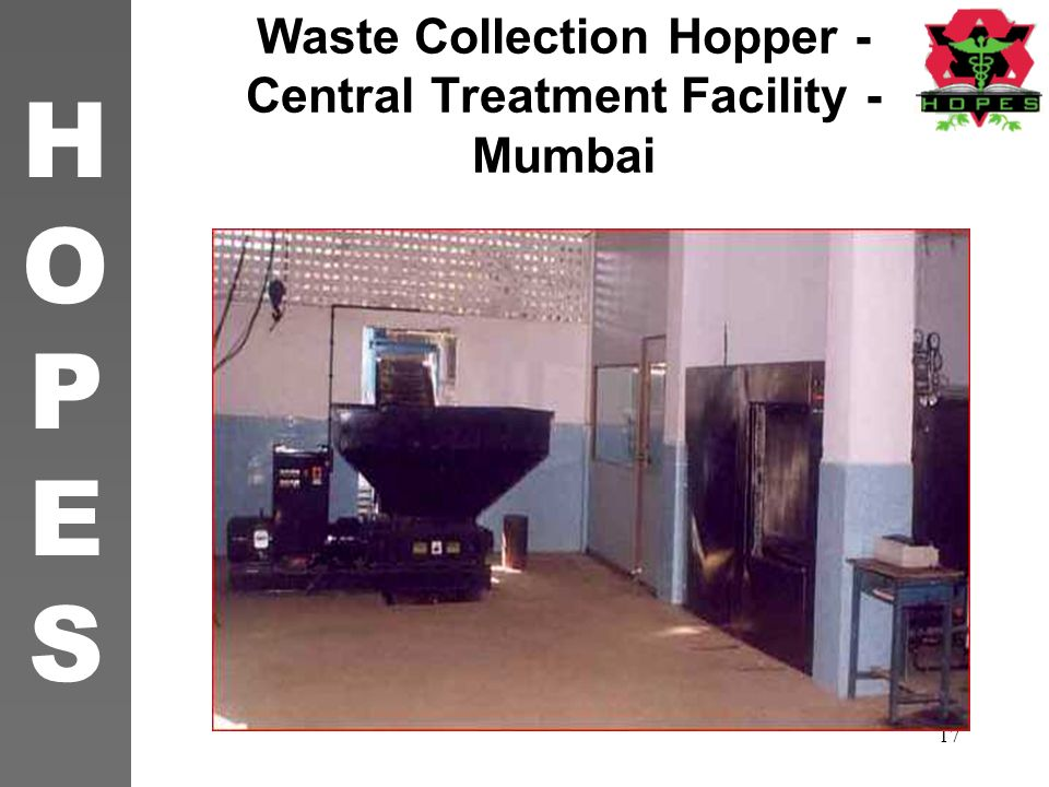 Waste Collection Hopper -Central Treatment Facility - Mumbai