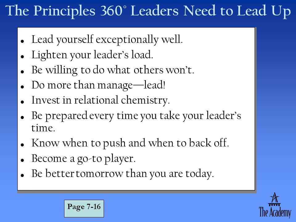 The Principles 360° Leaders Need to Lead Up
