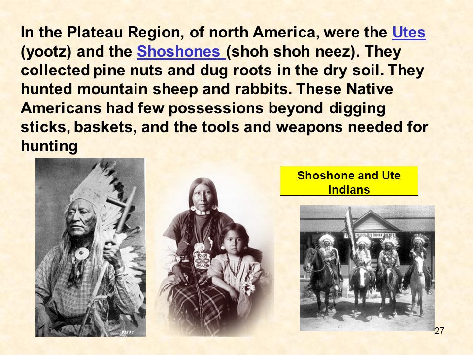 Shoshone and Ute Indians