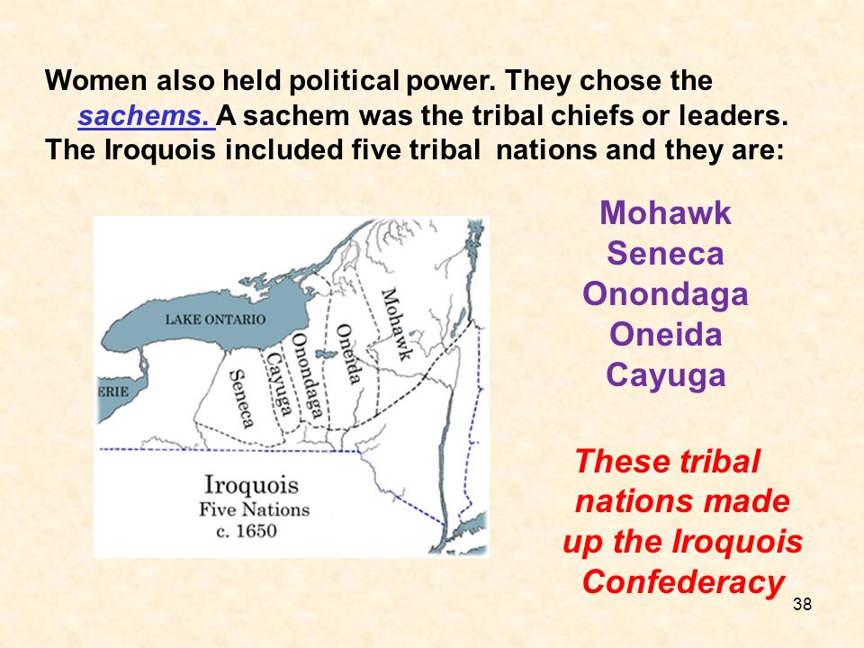 These tribal nations made up the Iroquois Confederacy