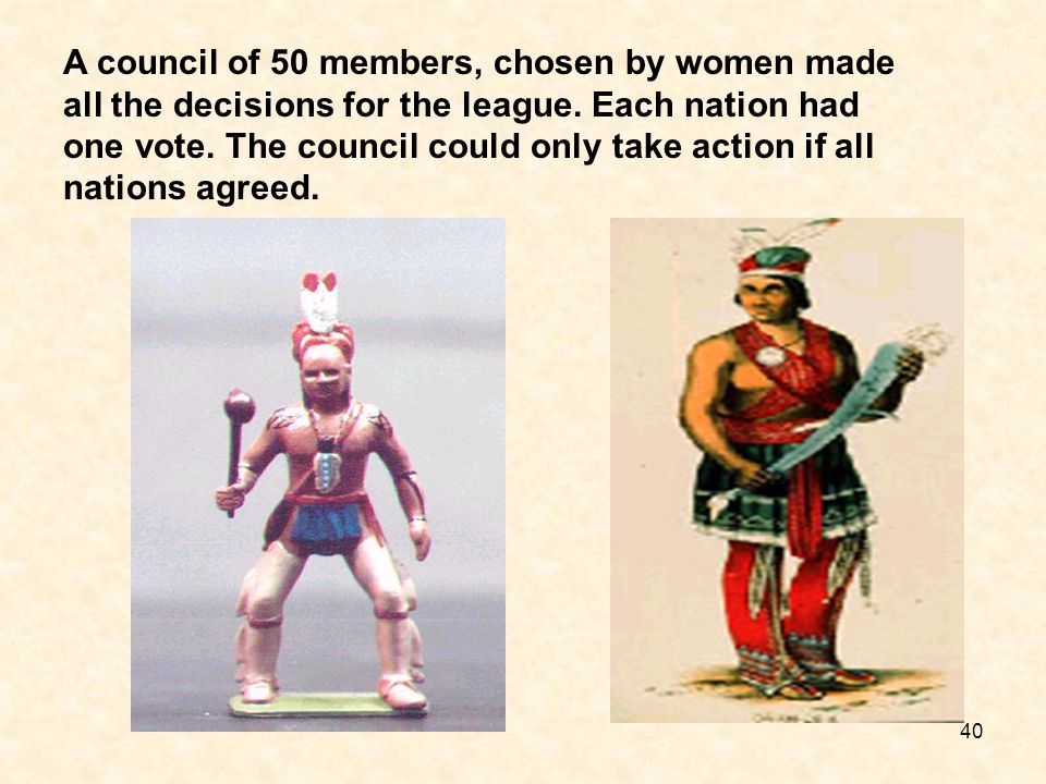 A council of 50 members, chosen by women made all the decisions for the league.