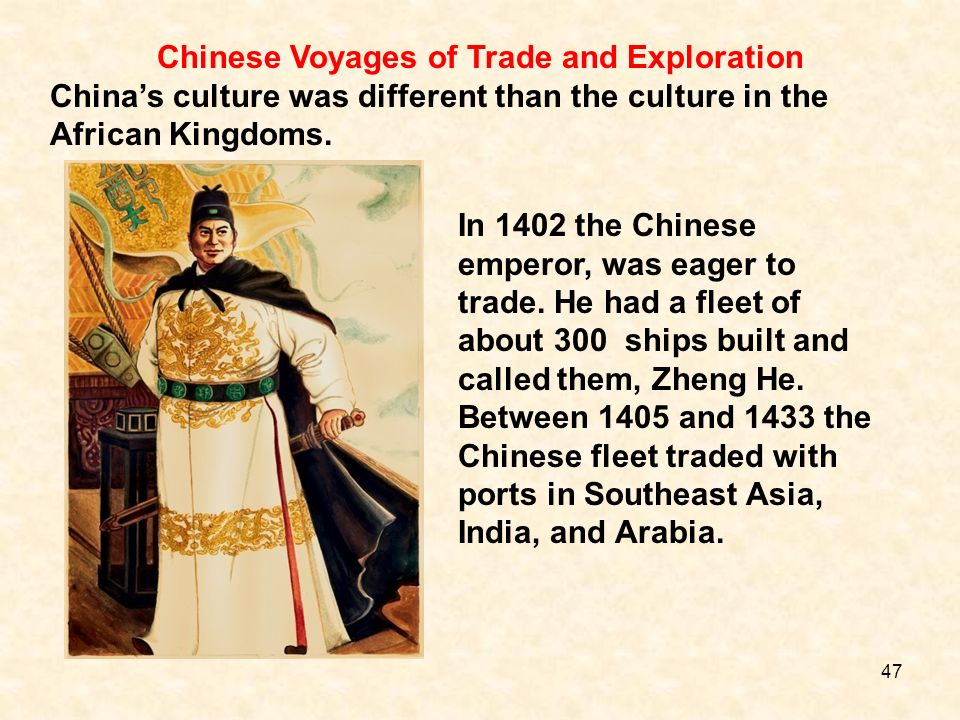 Chinese Voyages of Trade and Exploration