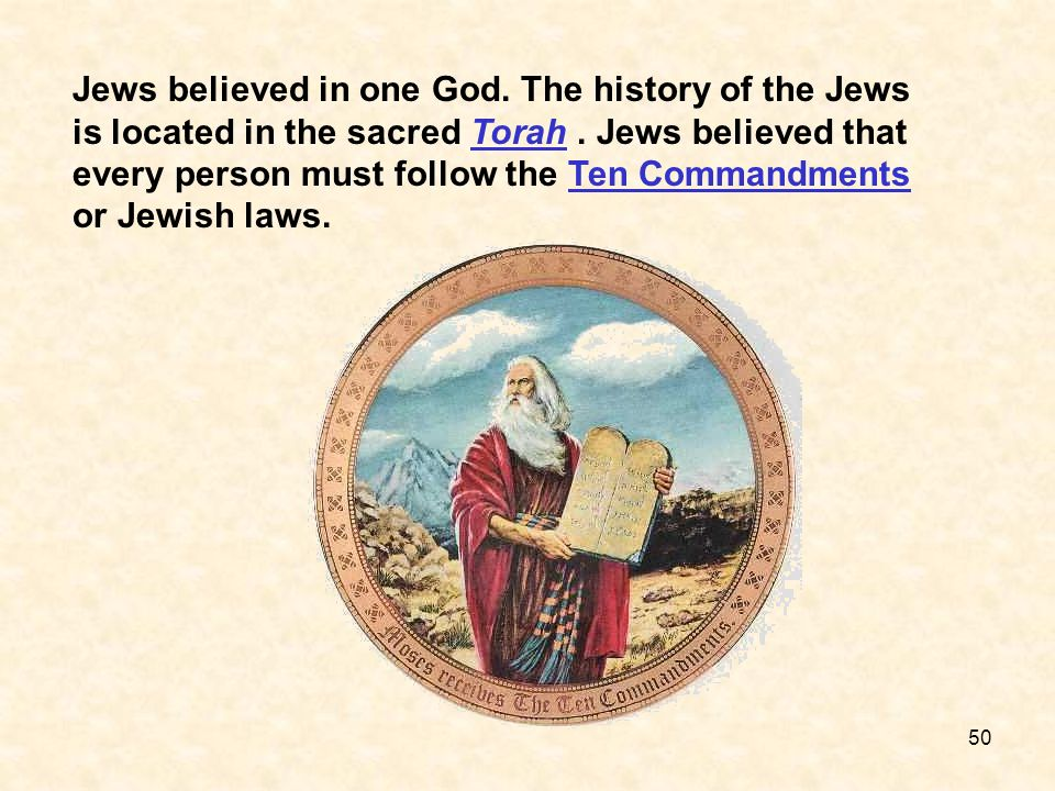 Jews believed in one God