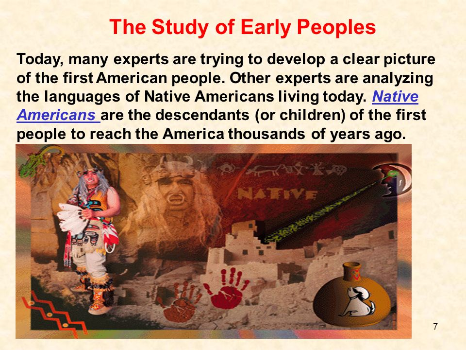 The Study of Early Peoples