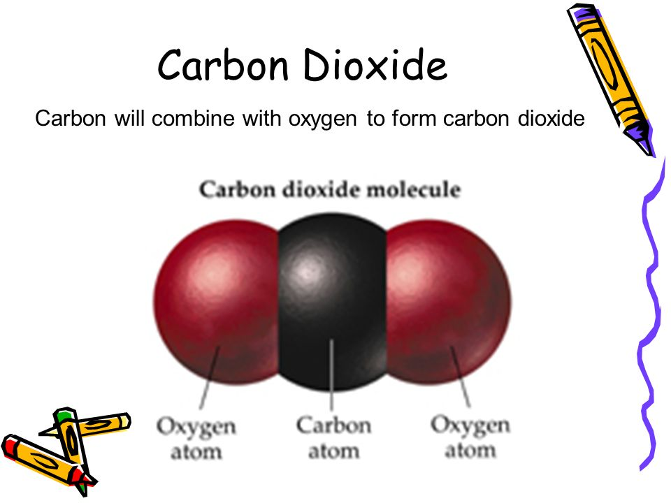 Carbon Dioxide Carbon will combine with oxygen to form carbon dioxide