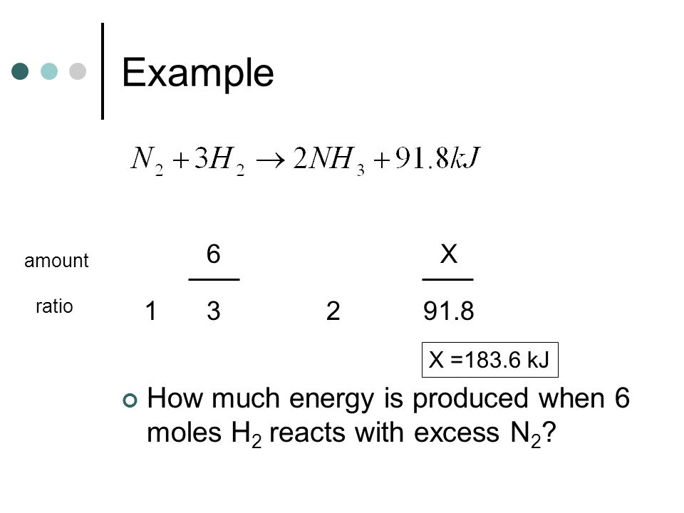 Example 6. X. amount. ratio