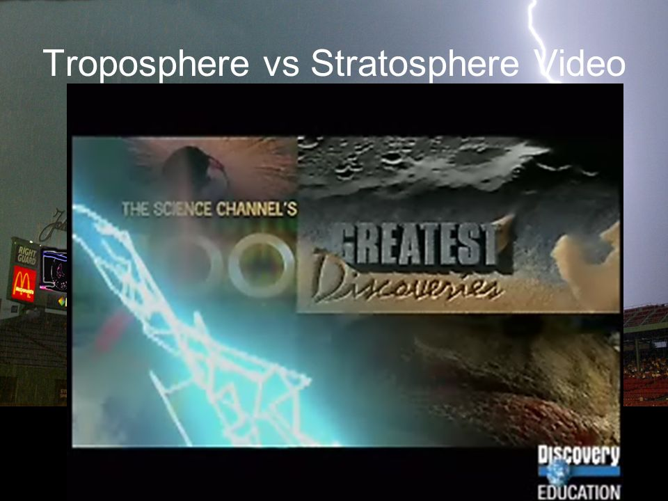 Troposphere vs Stratosphere Video