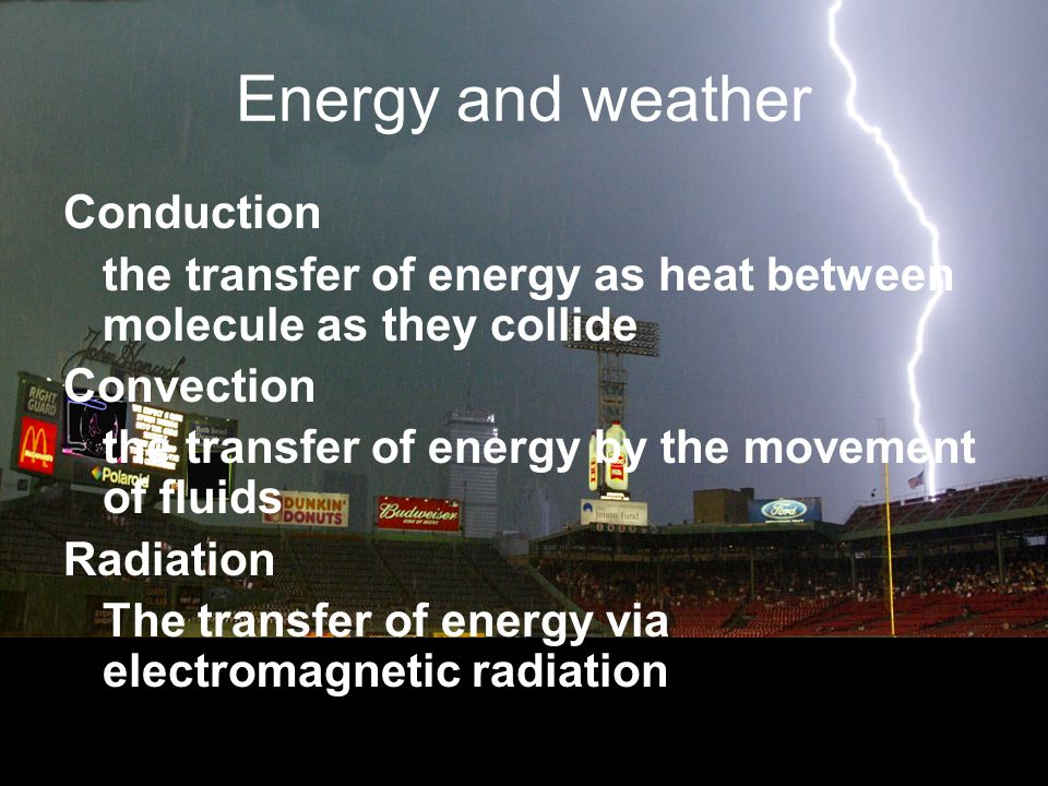 Energy and weather Conduction