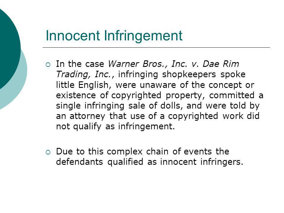 Innocent Infringement