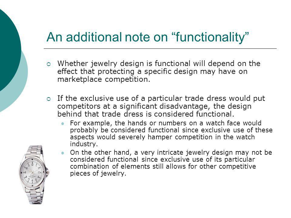 An additional note on functionality