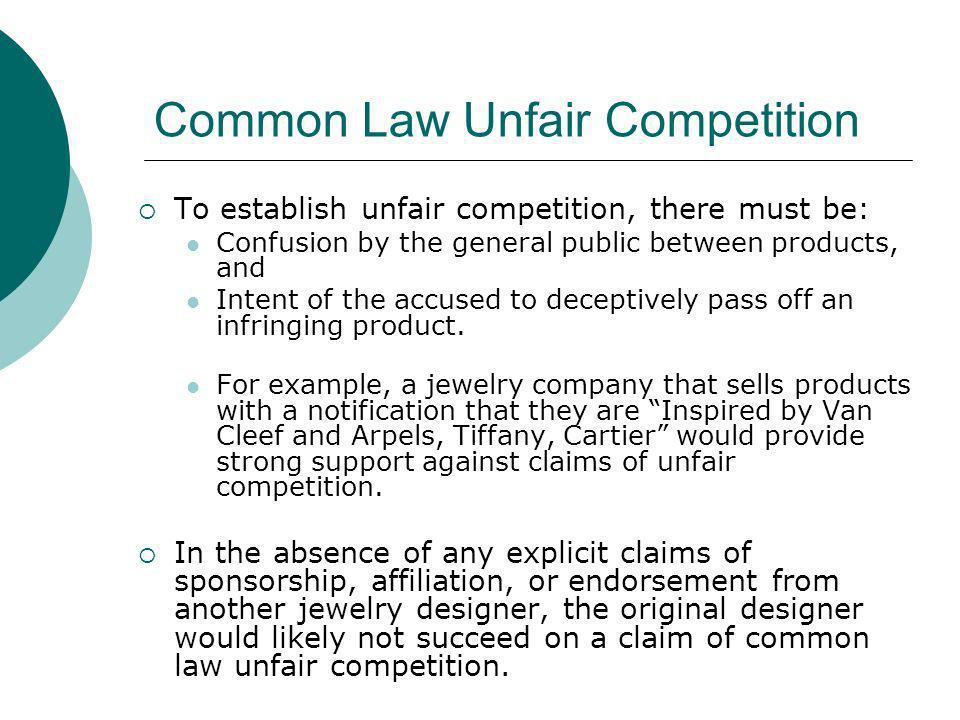 Common Law Unfair Competition