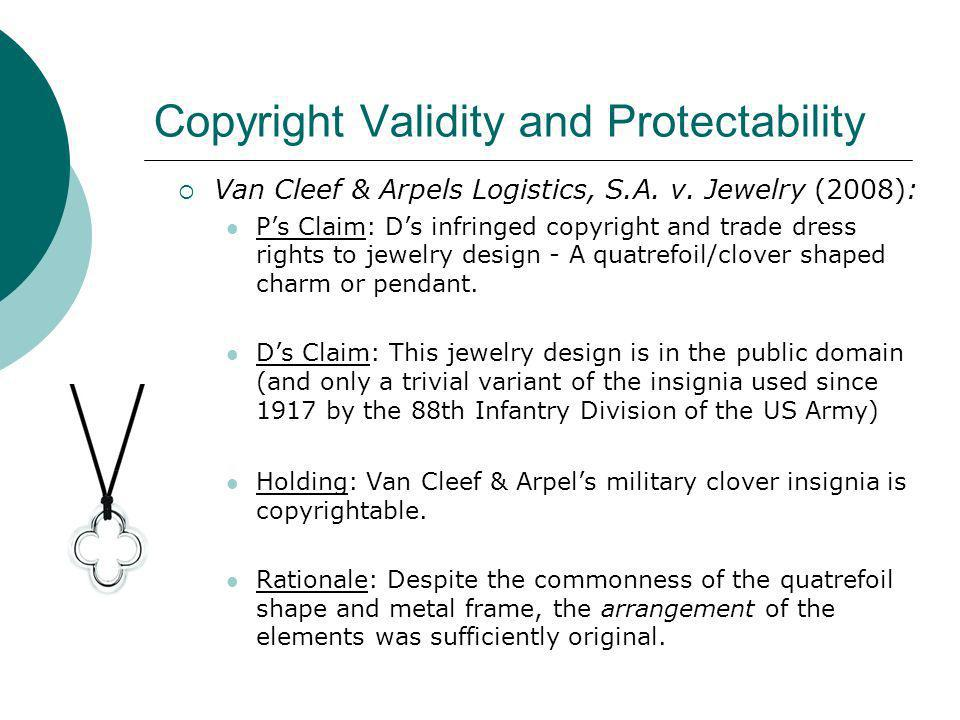 Copyright Validity and Protectability