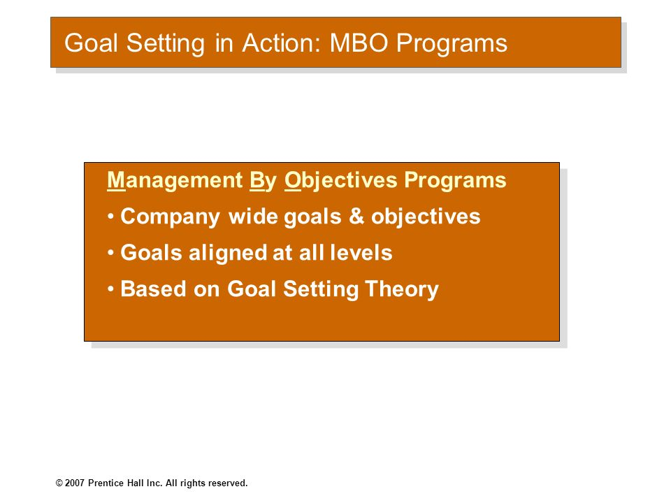 Goal Setting in Action: MBO Programs