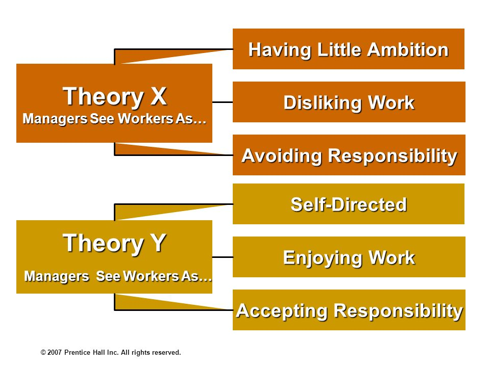 Theory X Theory Y Managers See Workers As…