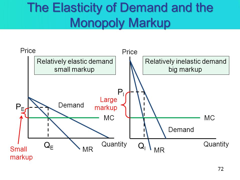 The Elasticity of Demand and the Monopoly Markup