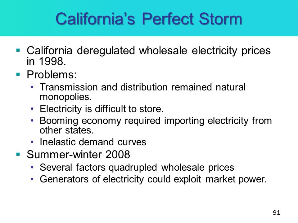 California's Perfect Storm