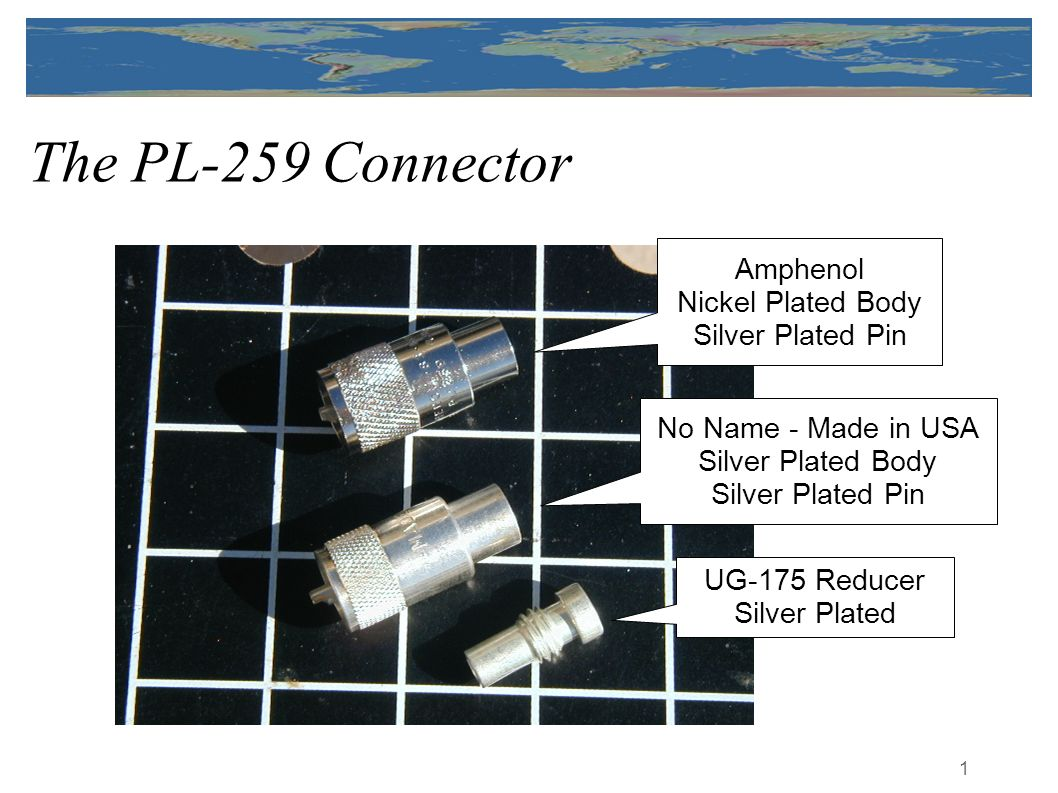 The PL-259 Connector Amphenol Nickel Plated Body Silver Plated Pin