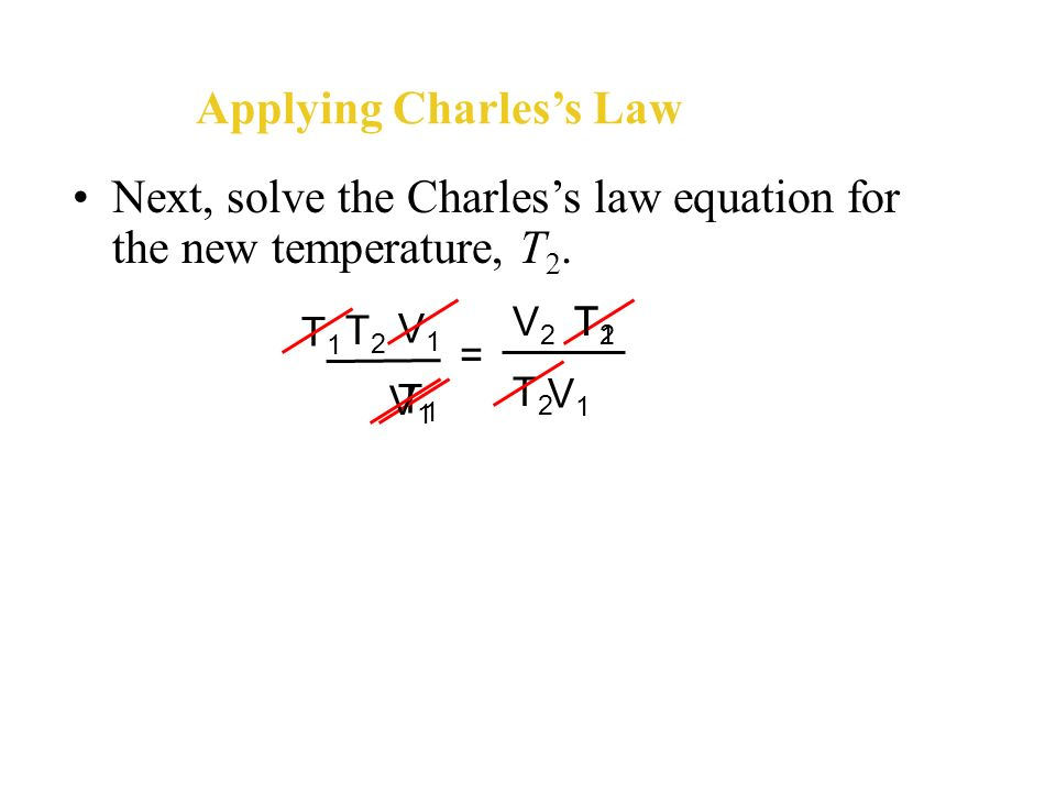 Applying Charles's Law